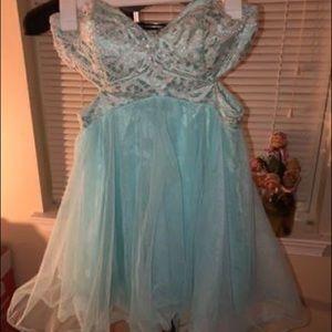 Teal dress!